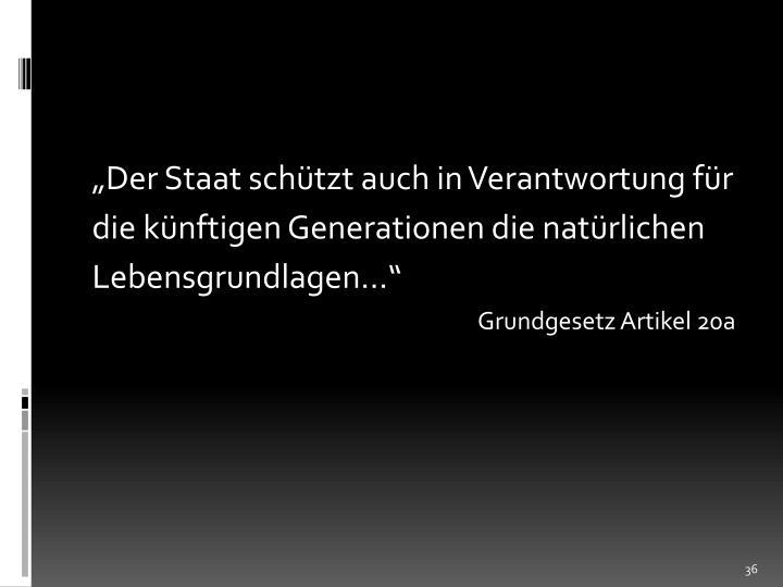 """""""Der Staat schützt auch in Verantwortung für"""