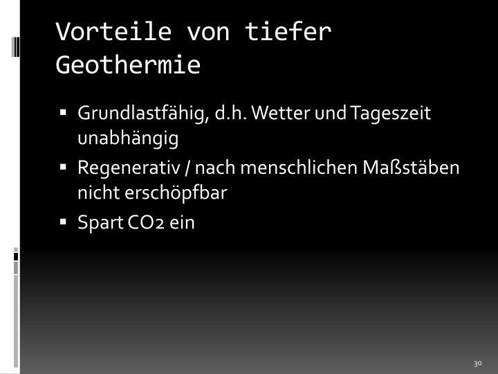 Vorteile von tiefer Geothermie