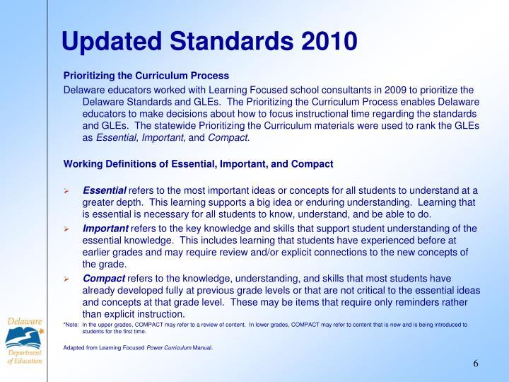 Updated Standards 2010