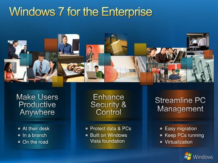 Windows 7 for the Enterprise