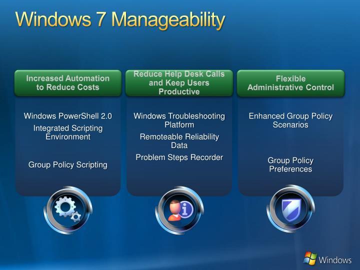 Windows 7 Manageability