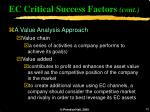 ec critical success factors cont