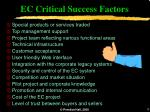 ec critical success factors
