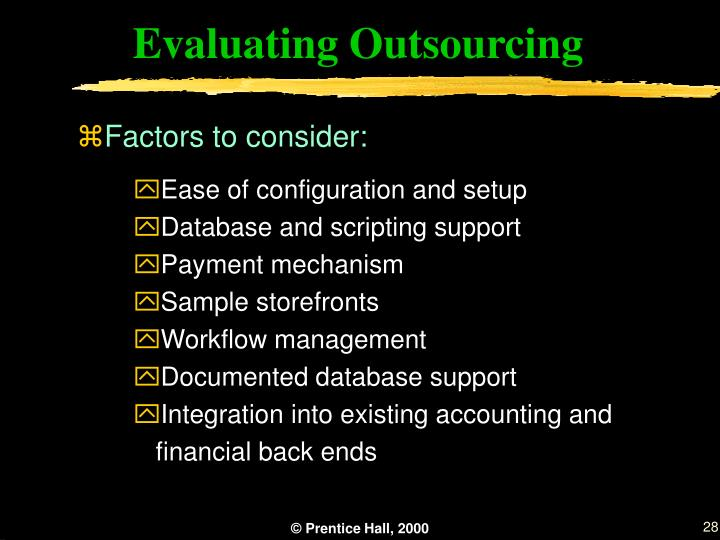 Evaluating Outsourcing