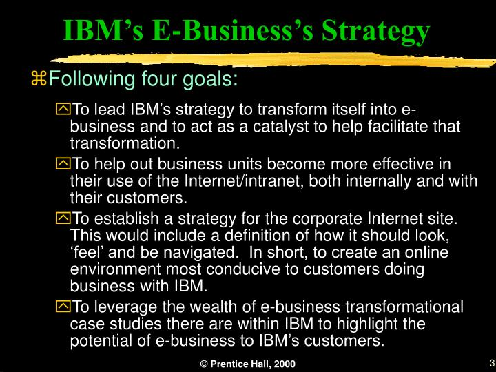 IBM's E-Business's Strategy