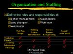 organization and staffing