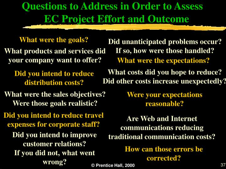 Questions to Address in Order to Assess EC Project Effort and Outcome
