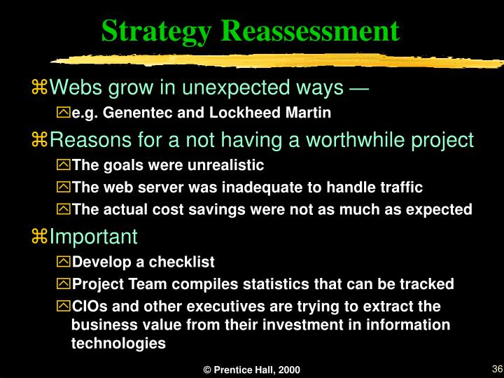 Strategy Reassessment
