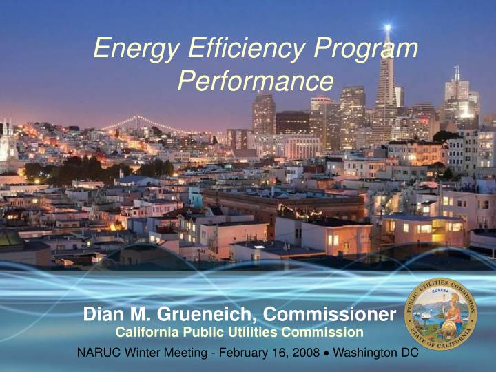 Energy Efficiency Program Performance