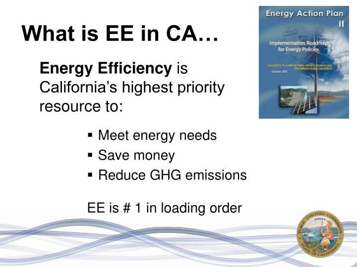 What is EE in CA…