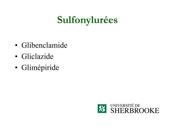 Sulfonylurées