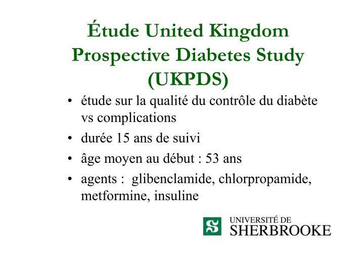 Étude United Kingdom Prospective Diabetes Study (UKPDS)