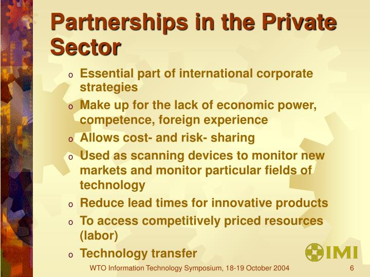 Partnerships in the Private Sector