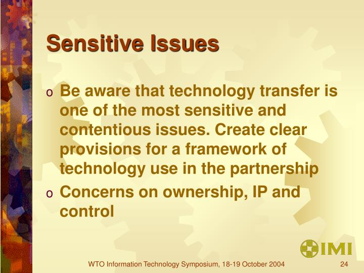 Sensitive Issues