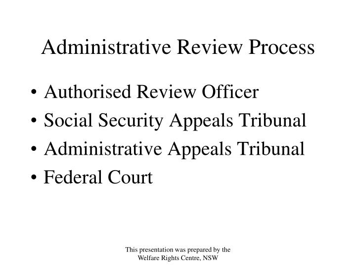 Administrative Review Process