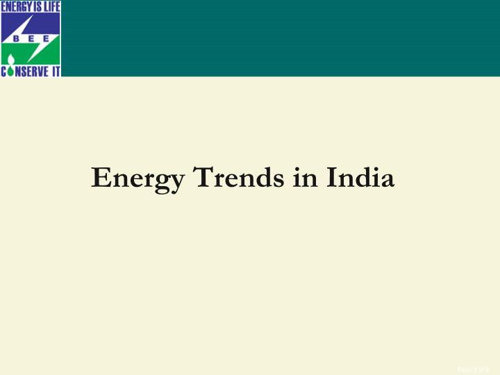 Energy Trends in India