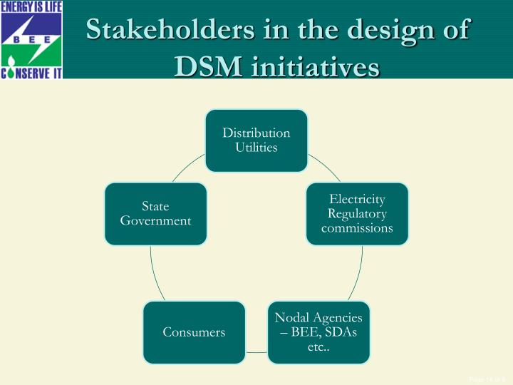 Stakeholders in the design of DSM initiatives