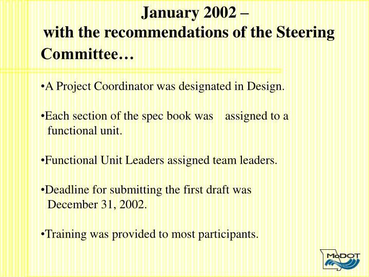 January 2002 –