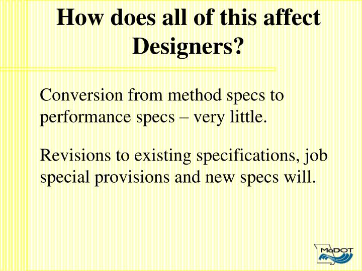 How does all of this affect Designers?