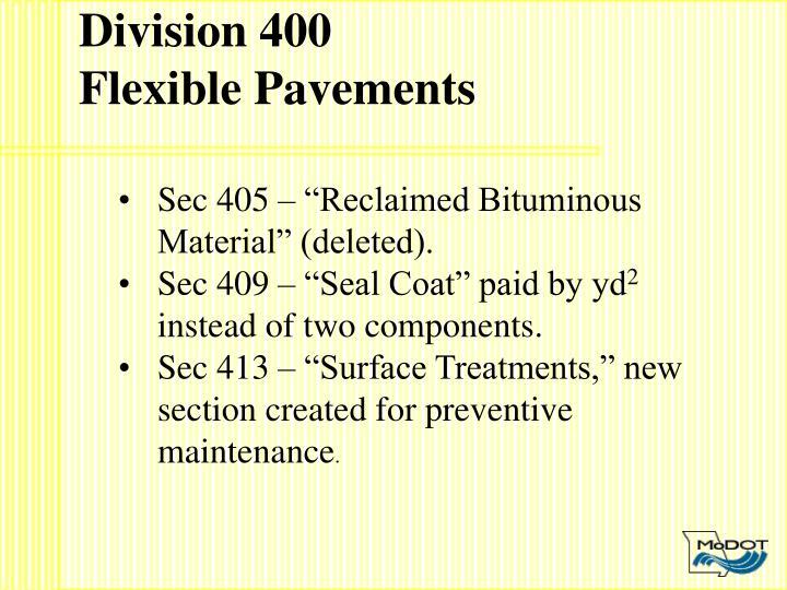 Division 400