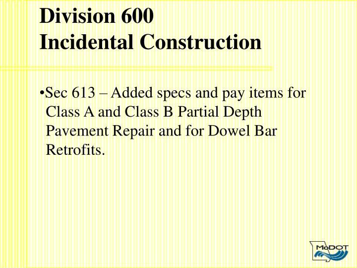 Division 600