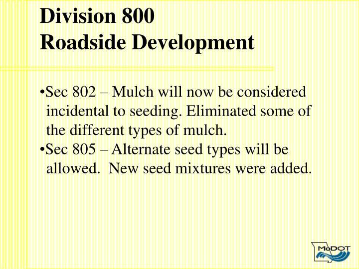 Division 800