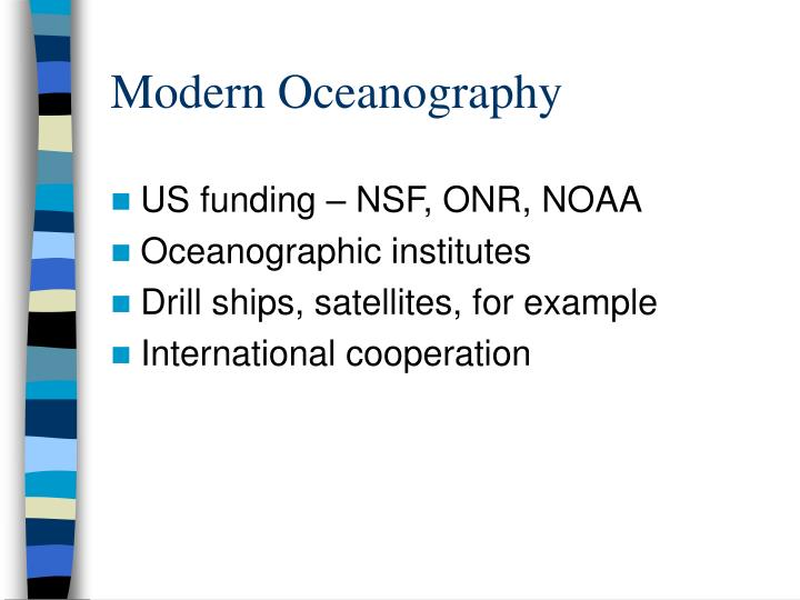 Modern Oceanography