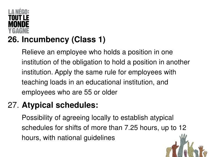 Incumbency (Class 1)