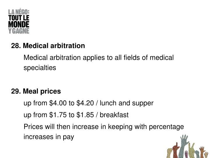 28. Medical arbitration