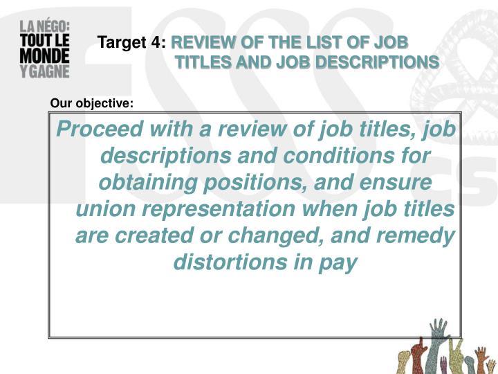 Target 4: