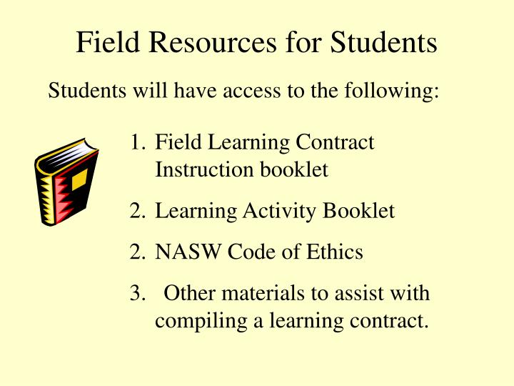 Field Resources for Students