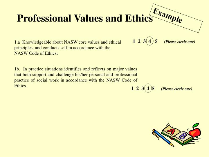 Professional Values and Ethics