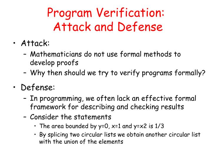 Program Verification: