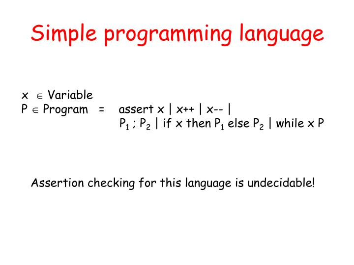Simple programming language
