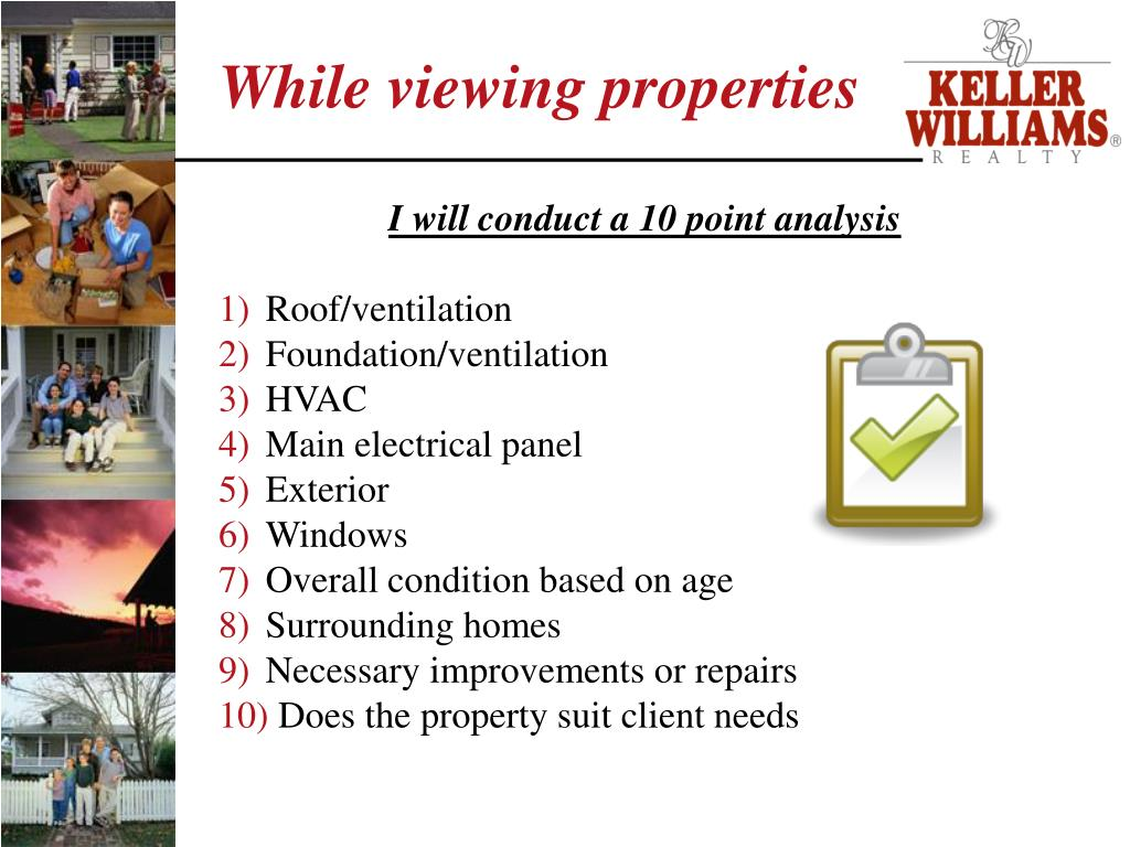 While viewing properties