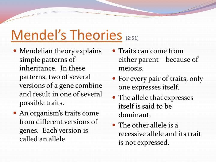 Mendel's Theories