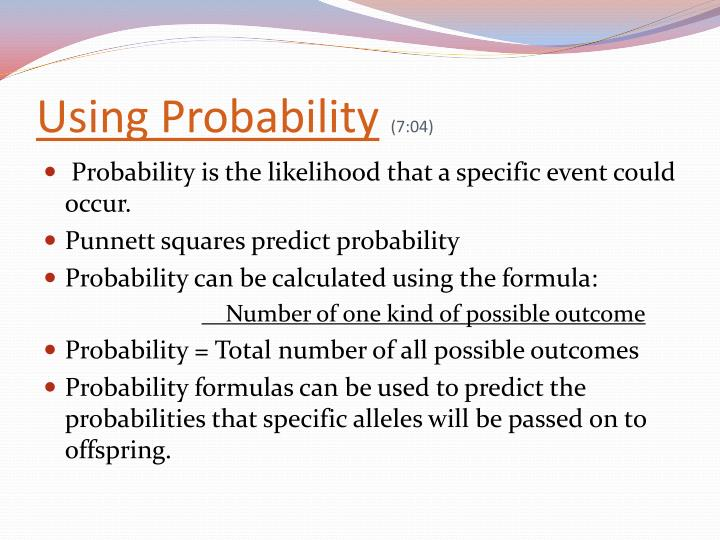 Using Probability