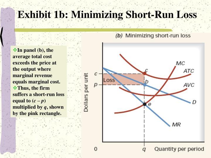 Exhibit 1b: Minimizing Short-Run Loss