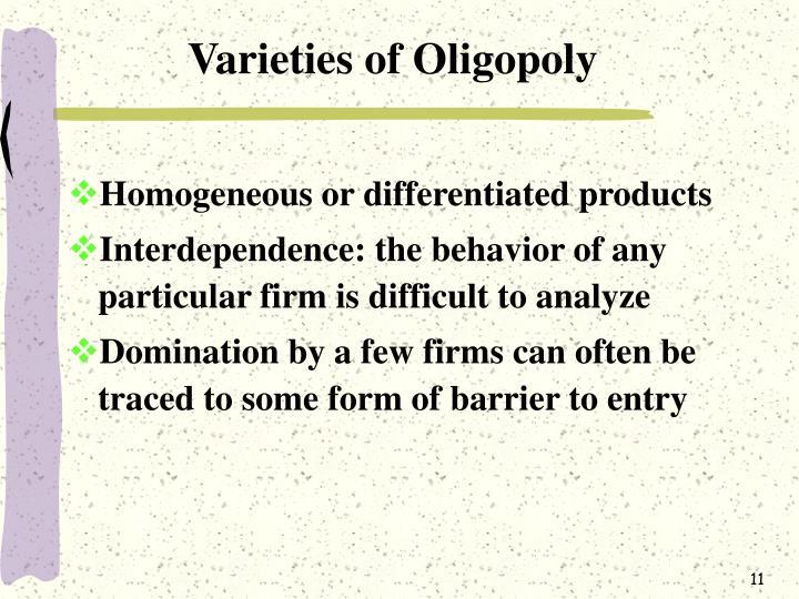 Varieties of Oligopoly
