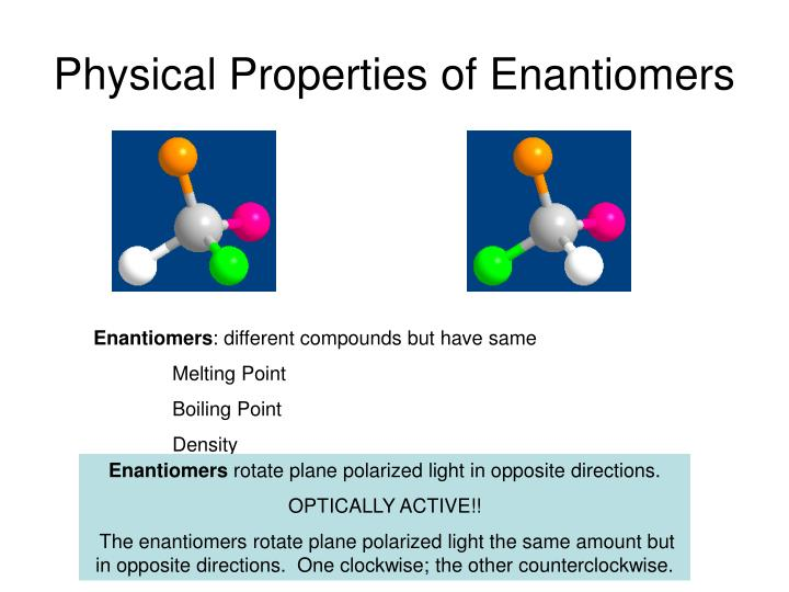 Physical Properties of Enantiomers