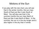 motions of the sun