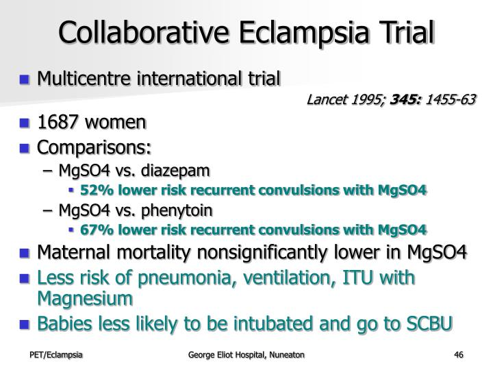 Collaborative Eclampsia Trial
