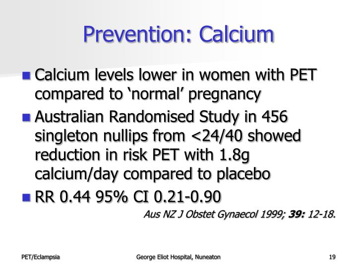 Prevention: Calcium