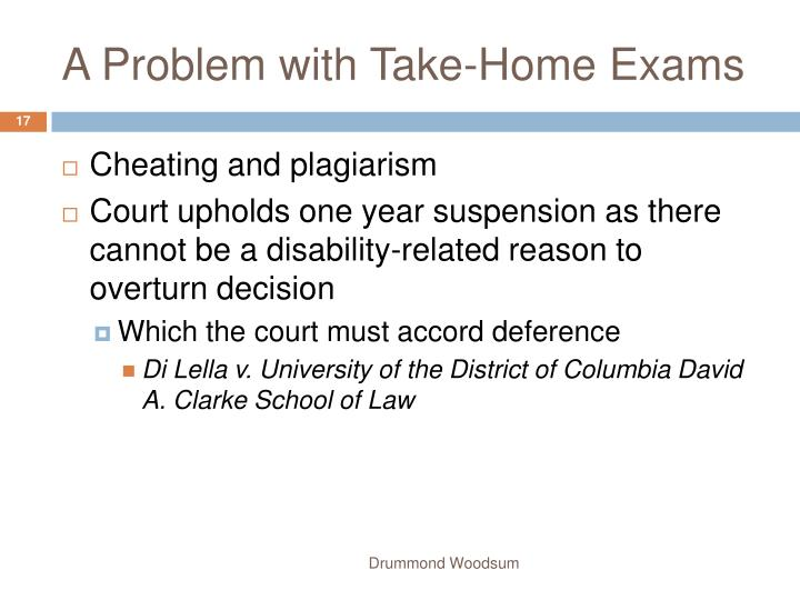 A Problem with Take-Home Exams