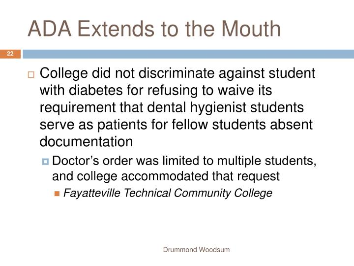 ADA Extends to the Mouth