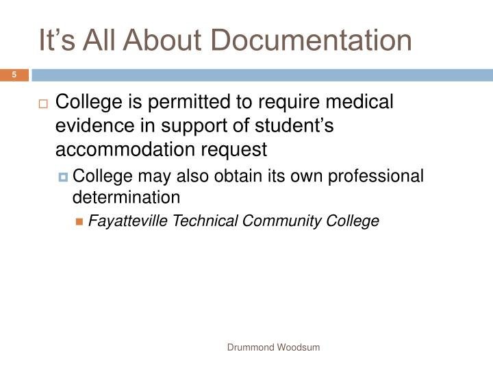 It's All About Documentation