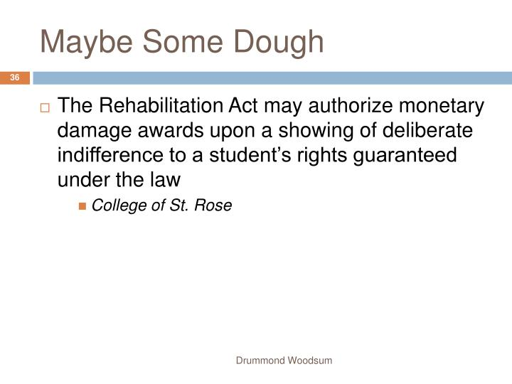 Maybe Some Dough