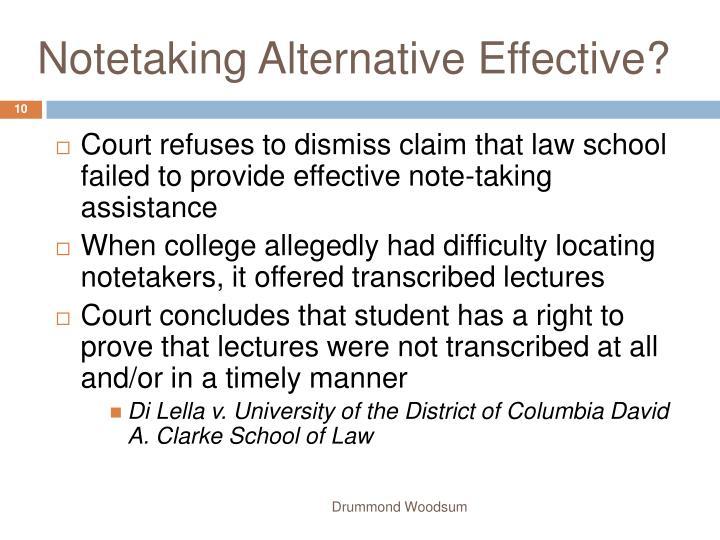 Notetaking Alternative Effective?