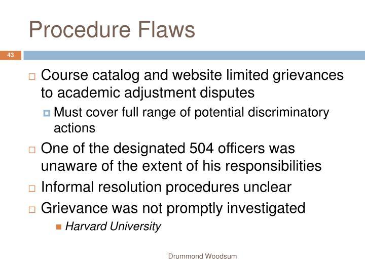 Procedure Flaws