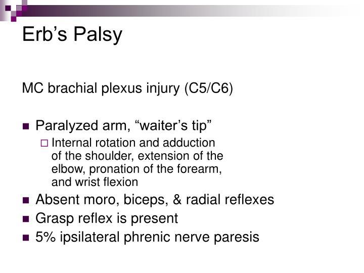 Erb's Palsy